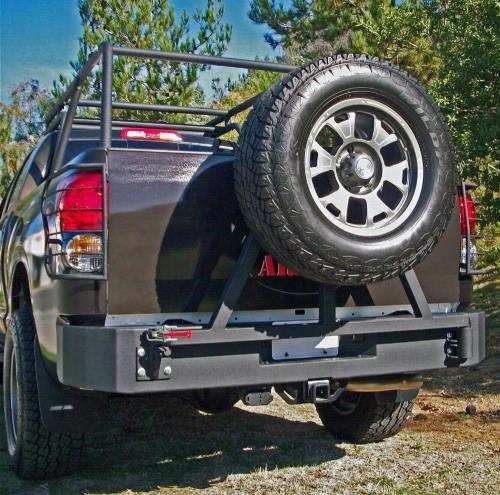 2007 TOYOTA TUNDRA Body Armor 4x4 Toyota Tundra Rear Base Bumper in Textured Powder Coat