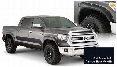 2014 TOYOTA TUNDRA Bushwacker Toyota Tundra Pocket Style Fender Flare Set in Attitude Black Metallic