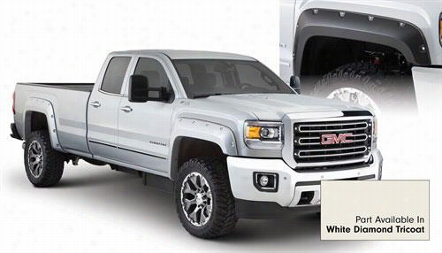 2015 GMC SIERRA 2500 HD Bushwacker GMC Sierra Pocket Style Fender Flare Set in White Diamond Tricoat