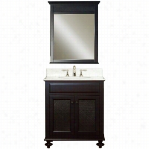 Water Creation LONDON-30B - 30 In. Dark Espresso Single Sink Bathroom Vanity And LONDON-M-2436 Matching Mirror