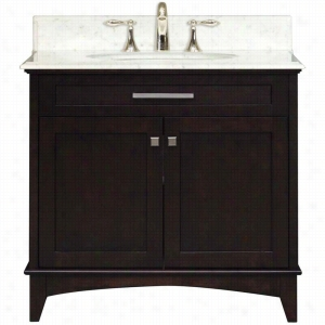 Water Creation MANHATTAN-36 - 36 In. Dark Espresso Single Sink Bathroom Vanity From The Manhattan Collection
