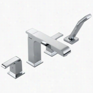 Delta Faucet T4786 - Two Handle Roman Tub Faucet with Handshower