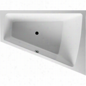 Duravit 710221-00-4-53-1090 - Right Corner Whirltub Including Combination System With Light, Remote, Heater, and Ozone