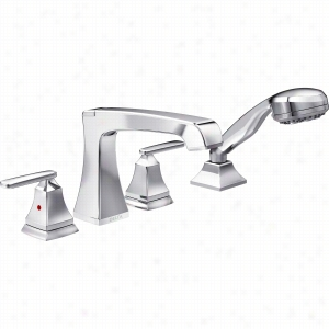 Delta Faucet T4764 - Two Handle 4-Hole Roman Tub Faucet Trim with Handshower