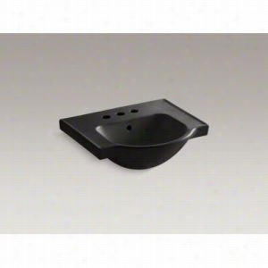 "KOHLER K-5247-4-7 - 21"" Single Bowl Pedestal Vitreous China 3-Hole 4"" Centers Bathroom Sink Only with Overflow Less Pedestal Base"