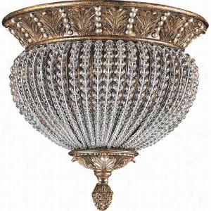 Crystorama Lighting 6723-WP - Flush Mount Crystal Beads
