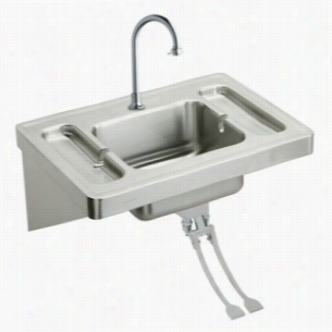 Elkay ESLV2820FC - Surgeon's Lavatory Sink Package with Instrument Trays