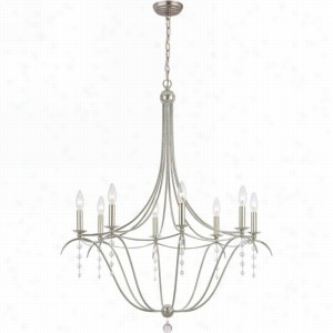 Crystorama Lighting 438-SA - Chandelier Clear Beads