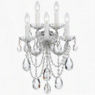 Crystorama Lighting 4425-CH-CL-MWP - Wall Sconce Crystal Beads
