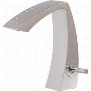 Aquabrass AB-61714-BKPC - Single-Hole Lavatory Faucet with Crystals