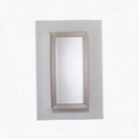 "Robern MP20D4MDBN - Finish framed 19-1/4"" x 39-3/8"" mirror non handed cabinet with satin silver interior and bevel mirror"