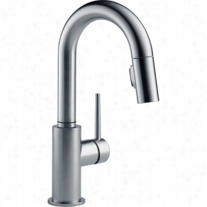 Delta Faucet 9959-AR-DST - Single Handle Pull-Down Bar Prep Faucet