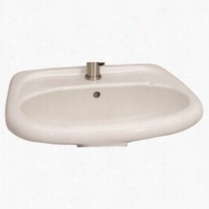 Barclay B3-258WH - Vitreous China Pedestal Lavatory with Single Hole
