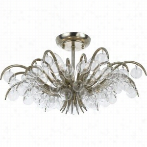 Crystorama Lighting 430-SA - Semi Flush Clear Beads