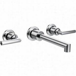Moen TS43003 - Two Handle Wall Mount Bathroom Faucet Trim