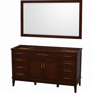 "Wyndham Collection WCV161660SCDCXSXXM56 - 60"" Single Bathroom Vanity, No Countertop, No Sink, & 56"" Mirror"