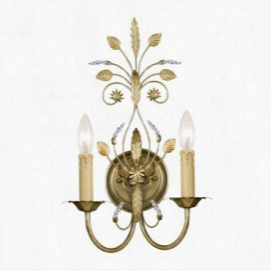Crystorama Lighting 4702-GL - Wall Sconce Swarovski Spectra Crystal Beads