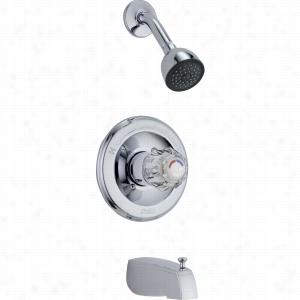 Delta Faucet T13422-SOS - Single Handle Monitor 13 Series Tub & Shower Faucet Trim, w/Slip-On Spout