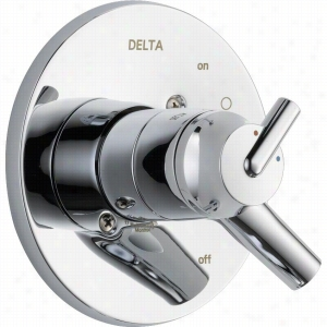 Delta Faucet T17059 - Single Handle Monitor 17 Series Valve Only Faucet Trim