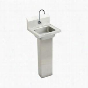 Elkay CHSP1716SACTMC - Hand Wash-Up Pedestal Sink Package with Sensor Faucet
