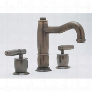 Rohl MB1928LMIB-2 - 3 Hole Lavatory Widespread Gotham Spout Lavatory Faucet with Pop-Up Waste, Metal Levers