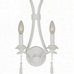 Crystorama Lighting 9352-WW - Wall Sconce Wet White Beads