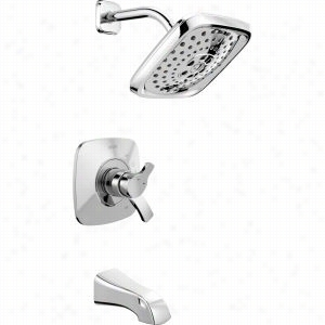 Delta Faucet T17T452 - Single Handle 17T Series TempAssure H2Okinetic Dual Function Thermostatic Tub Shower Faucet Trim 2.0 GPM