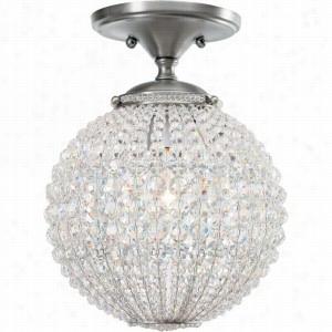 Crystorama Lighting 6750-AP - Semi Flush Mount Hand Cut Crystal Beads