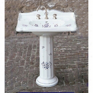 Herbeau 0303201 - CHARLESTON PEDESTAL SINK Washbasin Only 1 Hole