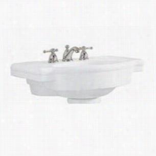 American Standard 0282.008.222 - Fireclay Pedestal Top Sink, 27 x 19-3/4 x 36