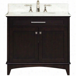 Water Creation MANHATTAN-30 - 30 In. Dark Espresso Single Sink Bathroom Vanity From The Manhattan Collection