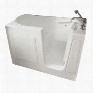 American Standard 3060.104.WRW - 5 ft. Right Hand Drain Walk-in Whirlpool Tub with Quick Drain in White