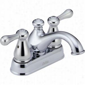 Delta Faucet 2578LF-MPU - Two Handle Centerset Bathroom Faucet w/Metal Pop-up Drain