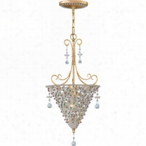 Crystorama Lighting 5902-BG-VIOLET - Pendant Hand Cut Crystal Beads