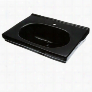 Foremost F1950SBK - Pedestal Sink Basin Only in Black