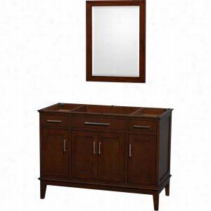 """Wyndham Collection WCV161648SCDCXSXXM24 - 48"""" Single Bathroom Vanity, No Countertop, No Sink, & 24"""" Mirror"""