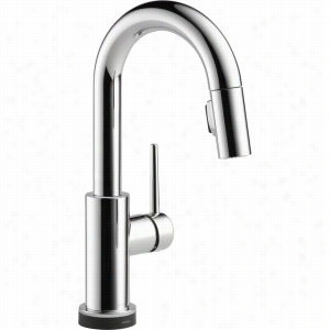 Delta Faucet 9959T-DST - Single Handle Pull-Down Touch 2O Bar Prep Faucet