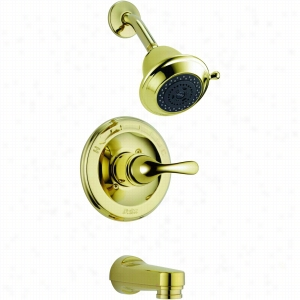 Delta Faucet T13420-PBSHCPD - Single Handle Monitor 13 H2O Series Tub & Shower Faucet Trim, w/Hot & Cold indicators
