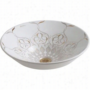 Kohler K-14223-SR2-0 - Caravan Collection Persia on Conical Bell Vessels Vitreous China Bathroom Sink