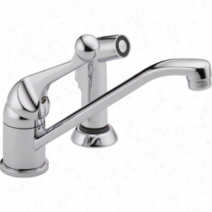 Delta Faucet 175LF-WF - Classic Single Handle Kitchen Faucet with Spray
