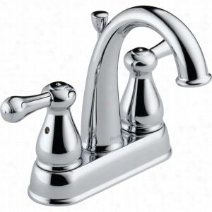 Delta Faucet 2575LF-MPU - Two Handle Centerset Bathroom Faucet w/Metal Pop-up Drain