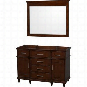 "Wyndham Collection WCV171748SCDCXSXXM44 - 48"" Single Bathroom Vanity in with No Countertop & No Sink & 44"" Mirror"