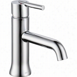 Delta Faucet 559LF-LPU - Single Handle Single-Hole Bathroom Faucet, Less Pop-Up Drain