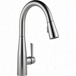 Delta Faucet 9113-AR-DST - Single Handle Pull-Down Spray Kitchen Faucet 1.8 GPM