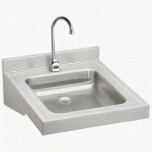 Elkay WCL19230SDSACTMC - ADA Compliant Wheelchair Wash-Up Lavatory Sink Package