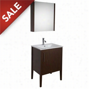 Vigo Industries VG09040118K - 24-inch Maxine Single Bathroom Vanity with Medicine Cabinet