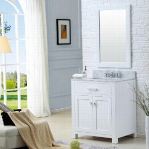 Water Creation MADISON-30W - 30 In. Solid White Single Sink Bathroom Vanity From The Madison Collection
