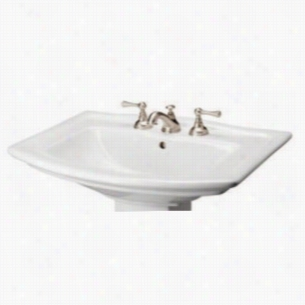 Barclay B3-398WH - Pedestal Lavatory Sink Only