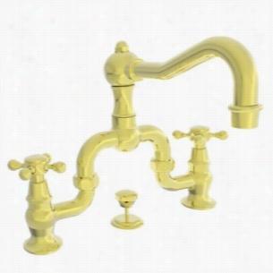 Newport Brass NB930B-01 - Lavatory Bridge Faucet, Cross Handles