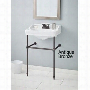 Cheviot 553-WH-1-575-AB - Pedestal Sink Single Hole and Metal Console Stand